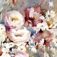 Bouquet sur la terrasse 63 x 50 cm